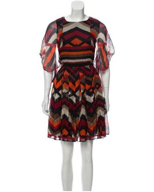 8f4284d06e Giambattista Valli - Black Printed Silk Dress - Lyst ...