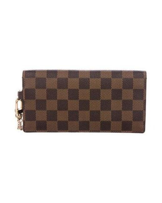 d5527b538633 ... Louis Vuitton - Natural Damier Ebene Accordeon Wallet Brown - Lyst