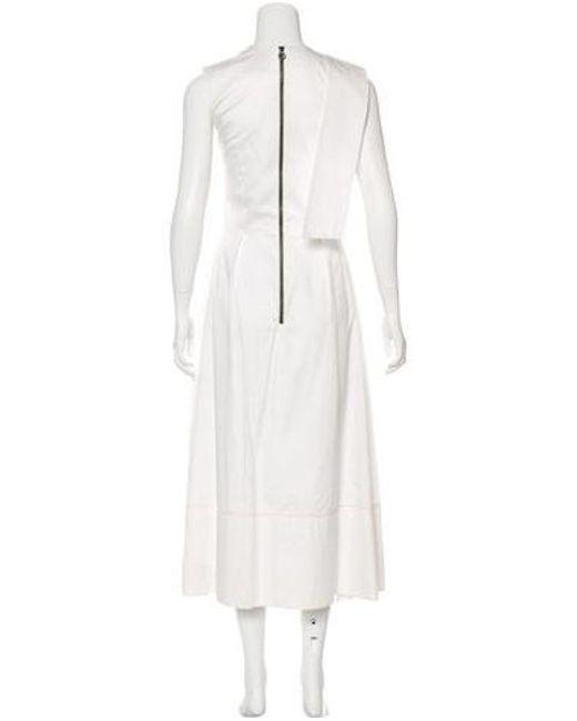 lyst roksanda sleeveless maxi dress in white Carolina Herrera 2014 roksanda white sleeveless maxi dress lyst