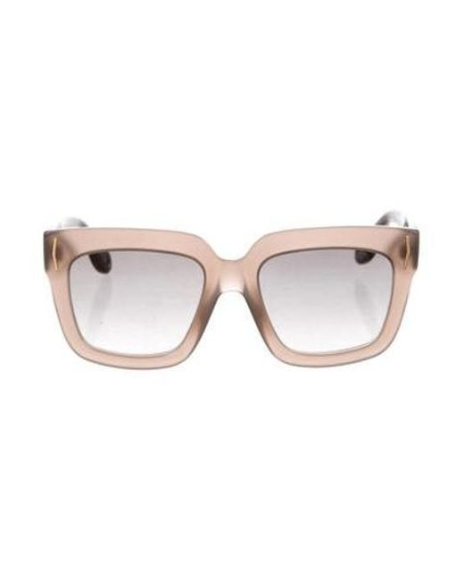 6fbc737372666 Givenchy - Metallic Gradient Square Sunglasses Brown - Lyst ...