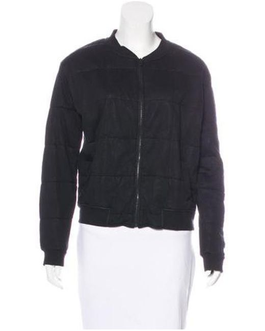 Majestic Filatures - Black Quilted Zip-up Jacket W/ Tags - Lyst