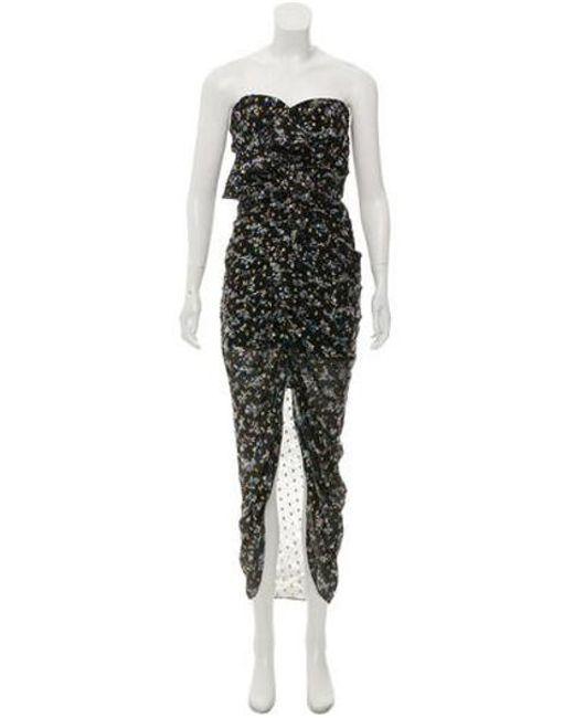 Lyst Veronica Beard Metallic Maxi Dress In Black