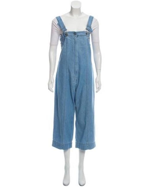 4bbefae77160 Vivienne Westwood Anglomania - Blue Denim Wide-leg Overalls - Lyst ...