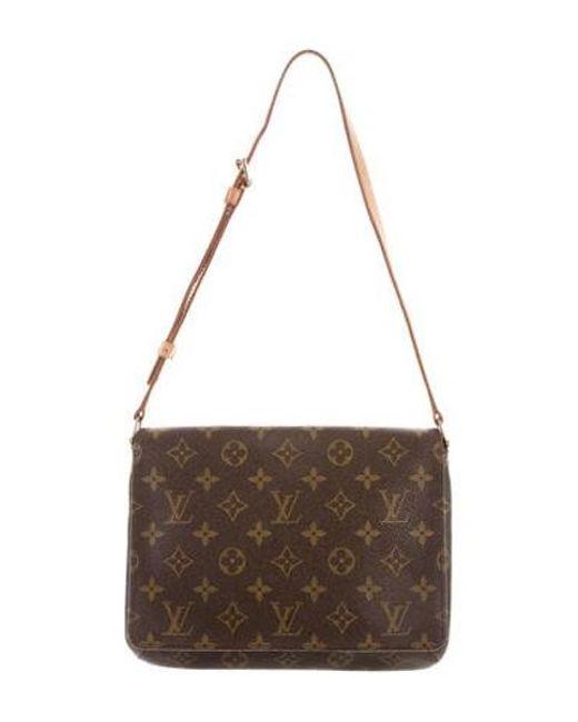 Louis Vuitton - Natural Monogram Musette Tango Brown - Lyst ... 81f0917e546e8