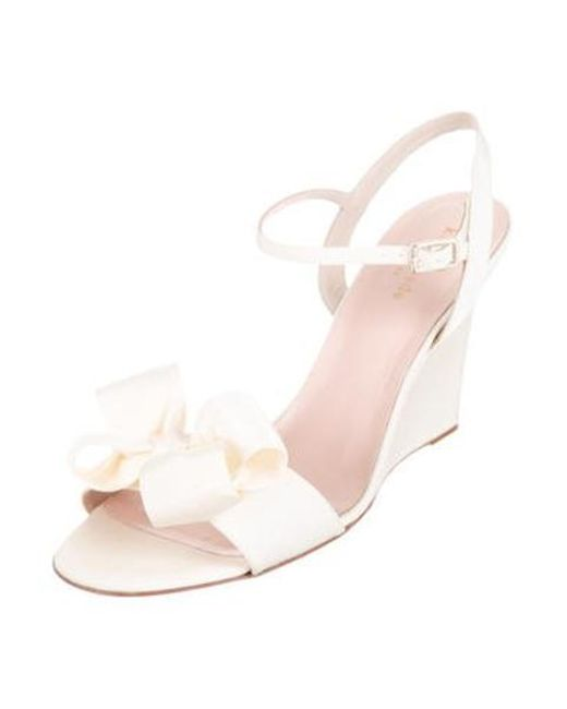 92f303b0a633 ... Kate Spade - White Iballa Wedge Sandals W  Tags - Lyst ...