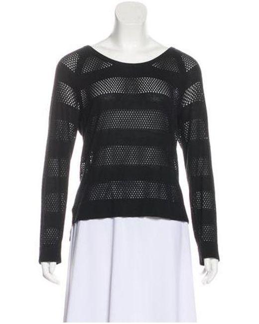 7541639576 Rag   Bone - Black Perforated Knit Sweater - Lyst ...