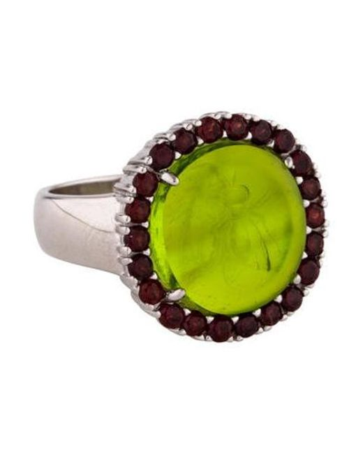 Tagliamonte - Metallic Garnet-accented Mother Of Pearl Doublet & Venetian Intaglio Ring Silver - Lyst