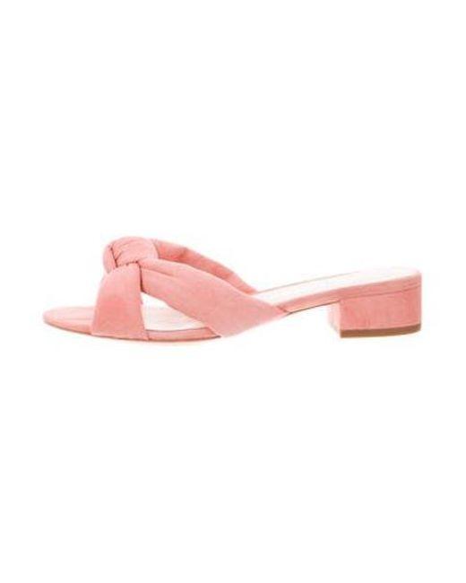 2aeb8ec6e8e Loeffler Randall - Pink Suede Elsie Sandals W  Tags Coral - Lyst ...
