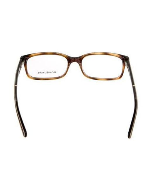 abc4c13027 ... Michael Kors - Metallic Tortoise Square Eyeglasses Brown - Lyst ...