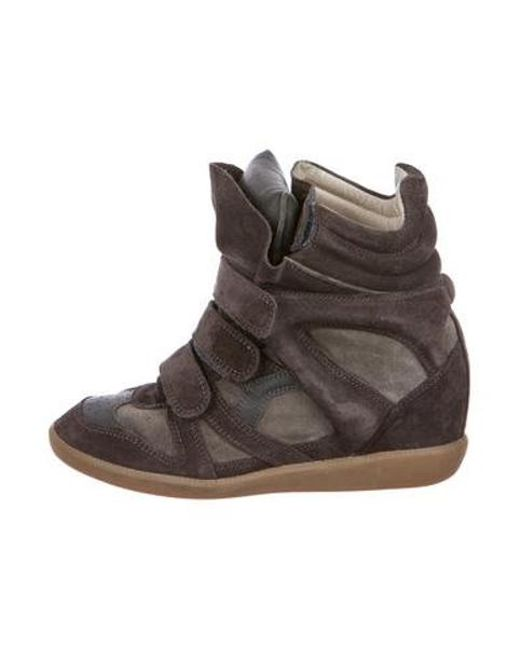 aa731b5b5da Isabel Marant - Gray Beckett Wedge Sneakers - Lyst ...