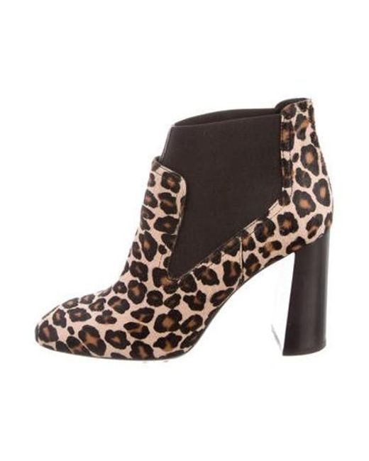 90c19a4ff58 Lyst - Tod S Pony Hair Ankle Boot in Brown