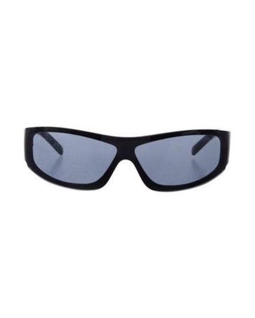 21f261ea72b59 Chanel - Metallic Cc Shield Sunglasses Black - Lyst ...