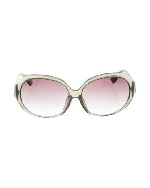 e8628a4ccb543 Michael Kors - Metallic Round Oversize Sunglasses Green - Lyst ...