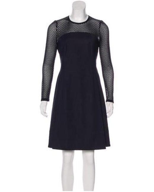 f53257810e Akris Punto - Blue Knee-length A-line Dress Navy - Lyst ...