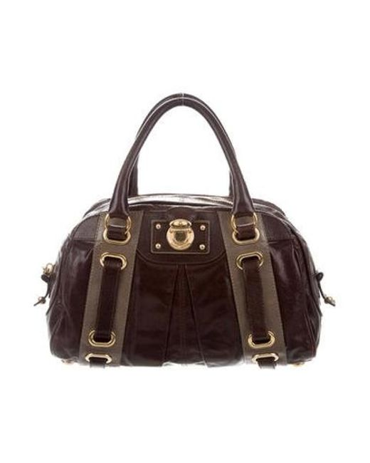28dc68a00e08 Marc Jacobs - Metallic Leather Handle Bag Brown - Lyst ...