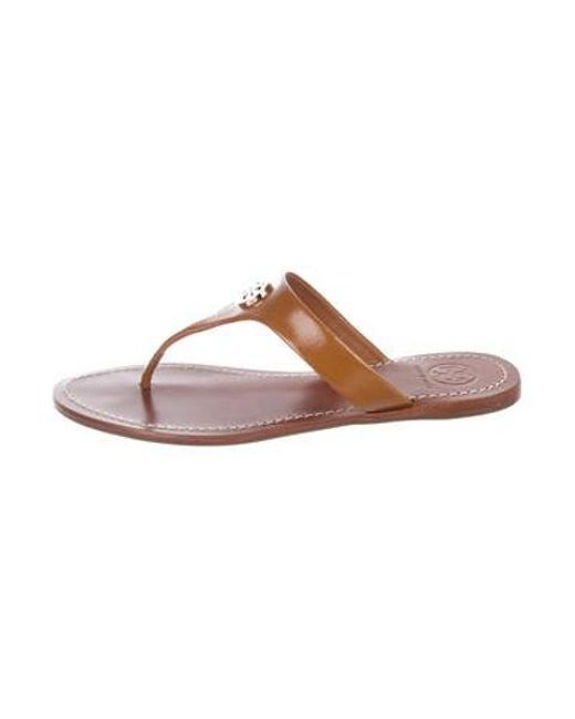 41722034f8553a Tory Burch - Metallic Cameron Thong Sandals W  Tags Tan - Lyst ...