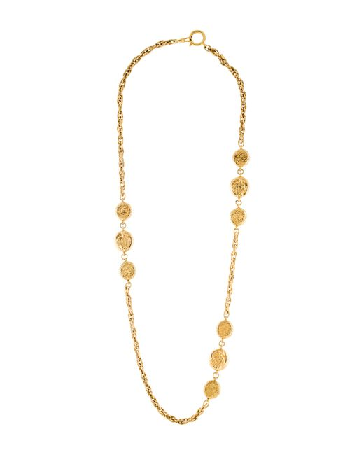 Chanel | Metallic Coco Mademoiselle Medallion Station Necklace Gold | Lyst