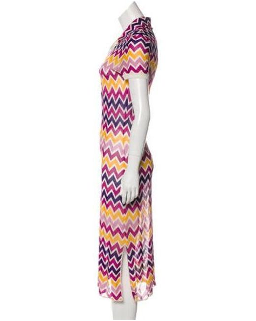 f0dee4f210 ... Missoni Sport - Purple Short Sleeve Midi Dress - Lyst ...