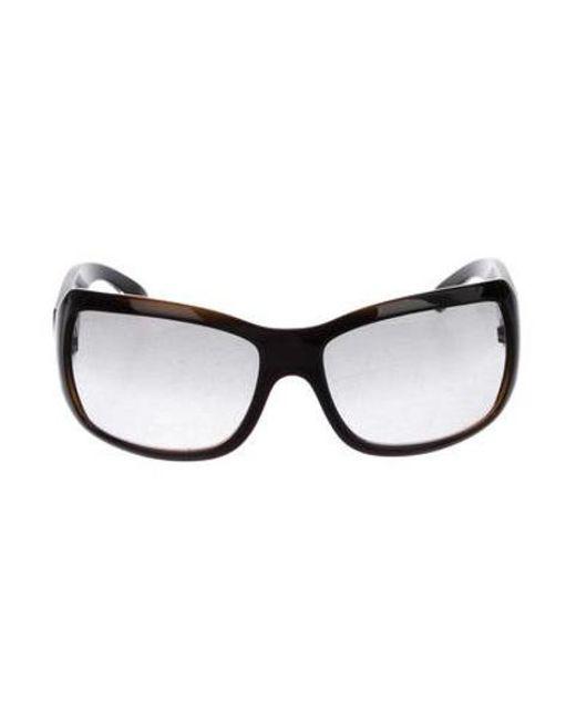 d9d67ea03f8 Chanel - Metallic Cc Square Sunglasses Black - Lyst ...
