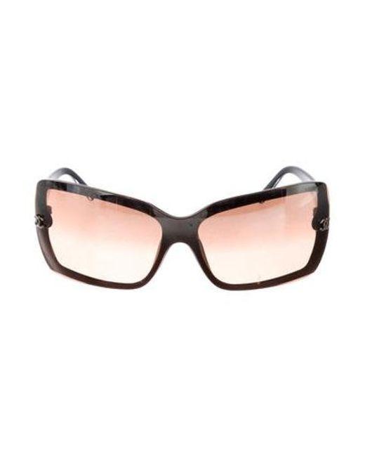 64a5fa1c26ac Chanel - Brown Shield Cc Sunglasses - Lyst ...