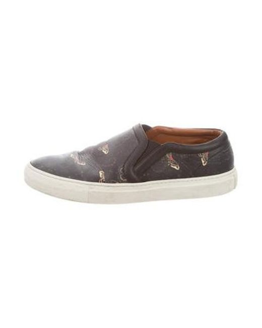 Givenchy - Black Printed Slip-on Sneakers for Men - Lyst
