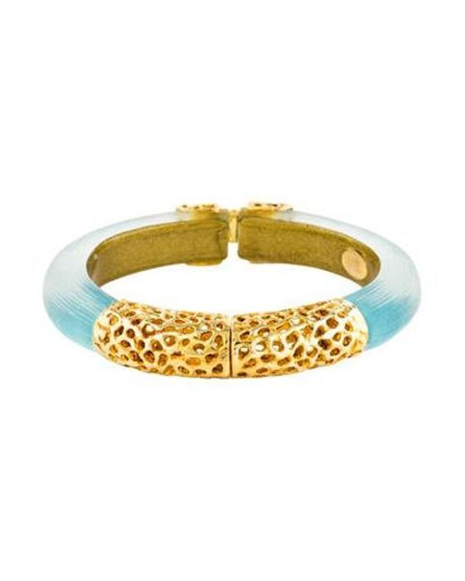 a56316ac7541 Alexis Bittar - Metallic Lucite Capped Hinge Bangle Gold - Lyst ...