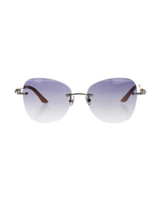 4633b2025ac Cartier - Metallic Trinity Ruban Sunglasses Gold - Lyst ...