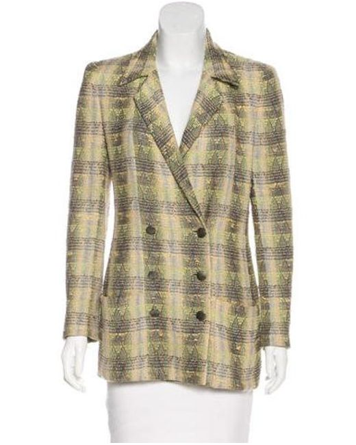 1b9c2f768b14 Chanel - Natural Tweed Double-breasted Blazer Tan - Lyst ...
