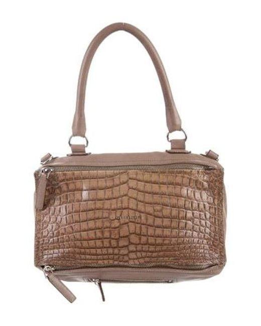 50571409bf Givenchy - Metallic Embossed Medium Pandora Satchel Silver - Lyst ...