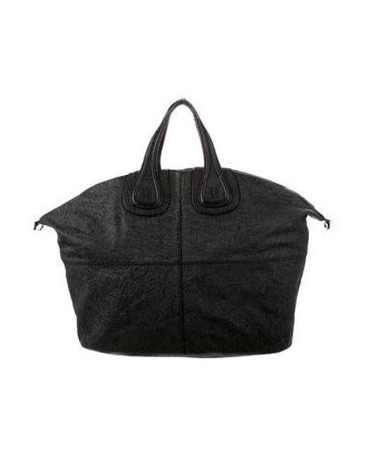 ... Givenchy - Metallic Medium Nightingale Bag Black - Lyst d69d505403440