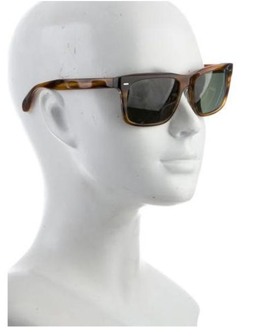 5d52f0bb31 ... Oliver Peoples - Brown Brodsky Polarized Sunglasses for Men - Lyst