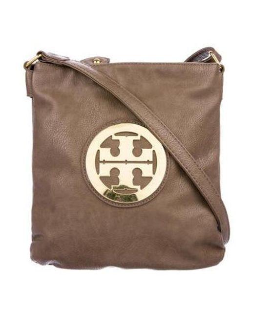 687fc1bee825 Tory Burch - Metallic Pebbled Leather Crossbody Bag Gold - Lyst ...