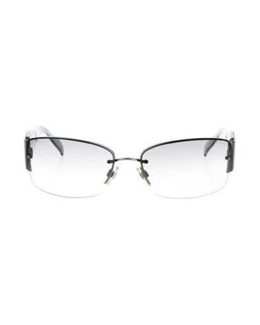 76168d1fe675 Chanel - Blue Strass Cc Sunglasses - Lyst ...