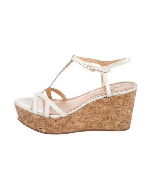 1ac5e37baf Kate Spade - White Patent Leather Wedge Sandals - Lyst ...