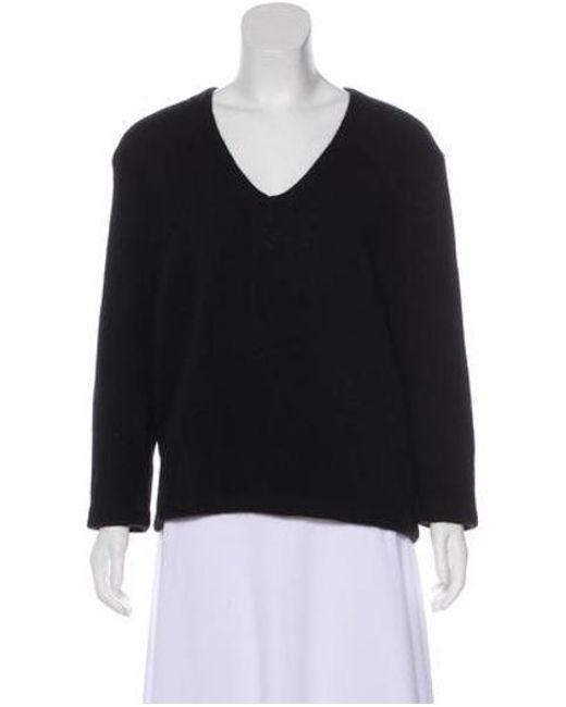 d878a0ca8c Maje - Black Long Sleeve Knit Sweater - Lyst ...