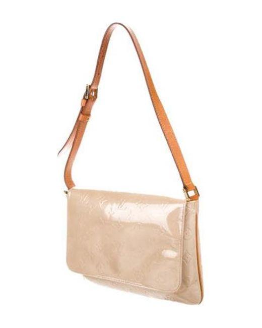 37664e1a2073 ... Louis Vuitton - Natural Vernis Thompson Street Bag Brass - Lyst ...