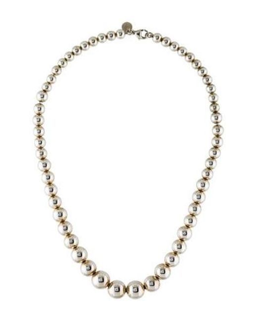 Tiffany & Co - Metallic Hardwear Graduated Ball Necklace Silver - Lyst