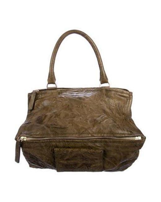 90acdffd64 Givenchy - Metallic Medium Pandora Bag Olive - Lyst ...