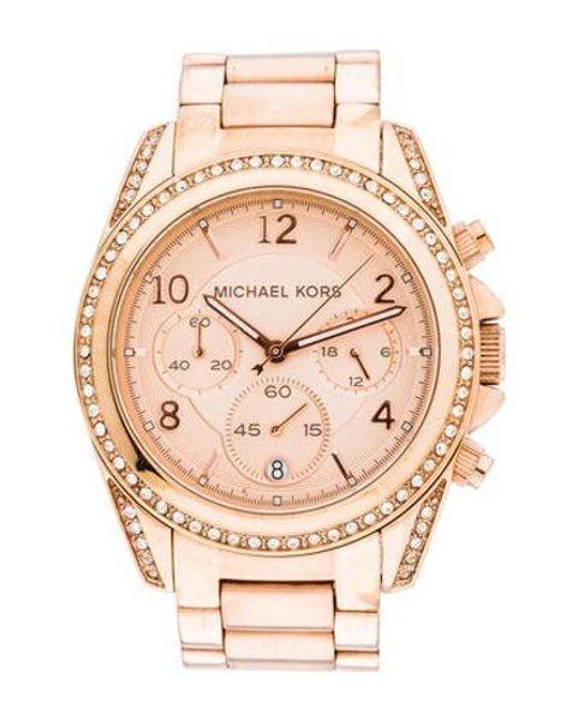 d678df7d4799 Michael Kors - Metallic Blair Chronograph Watch - Lyst ...