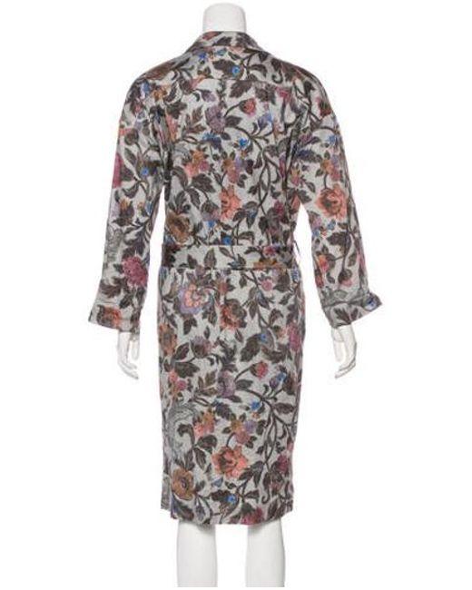 2b331d68 ... Dries Van Noten - Gray Belted Floral Dress Grey - Lyst