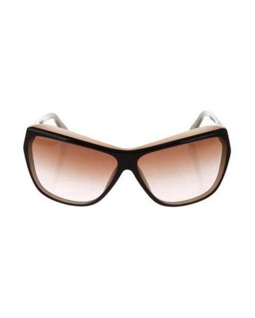 47ecf163bb3 Chanel - Black Cat-eye Cc Sunglasses - Lyst ...