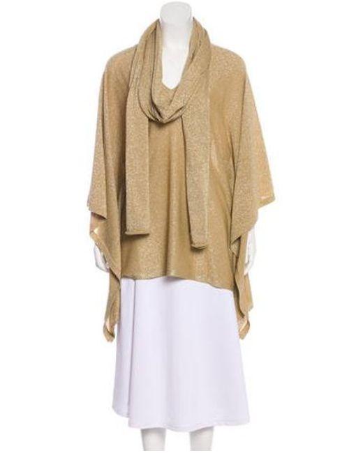Michael Kors - Metallic Oversize Sweater Set Gold - Lyst