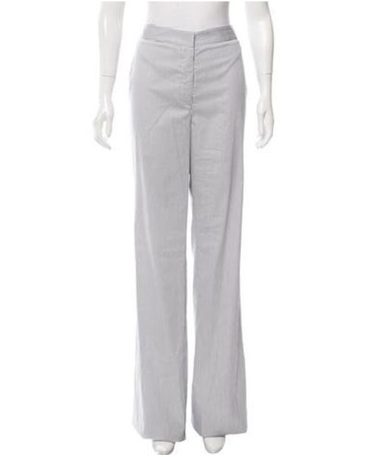 TOME - White Striped Flared Pants W/ Tags - Lyst