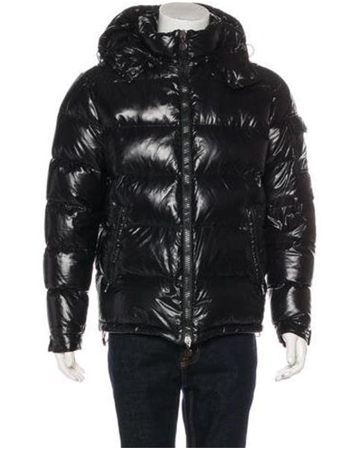 f0824ded9a30 Moncler - Gray Maya Quilted Down Jacket Black for Men - Lyst ...