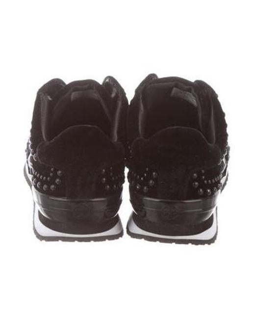ced41925dd99 ... Tory Burch - Black Scarlett Slip-on Sneakers - Lyst