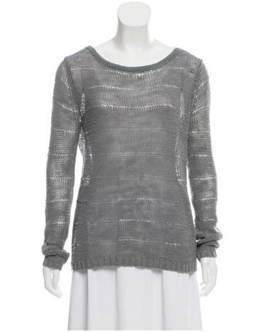 4ae75e99475 Rag   Bone - Gray Open Knit Sweater Grey - Lyst ...