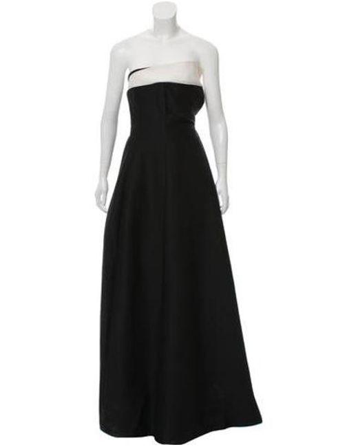 cb178f7e1eb5 Halston Heritage - Black Strapless Evening Dress - Lyst ...