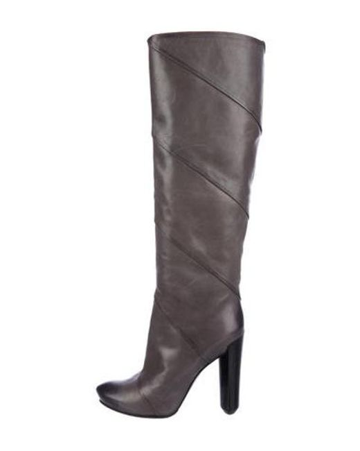 8356d4119e8 Louis Vuitton - Gray Leather Knee-high Boots Grey - Lyst ...