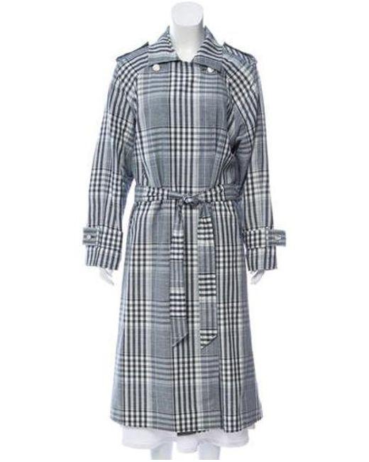Temperley London - Blue Plaid Long Coat Multicolor - Lyst ... 455a589fb
