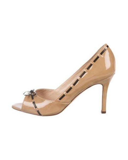 61e63f909f7 Kate Spade - Natural Granada Patent Leather Pumps Tan - Lyst ...